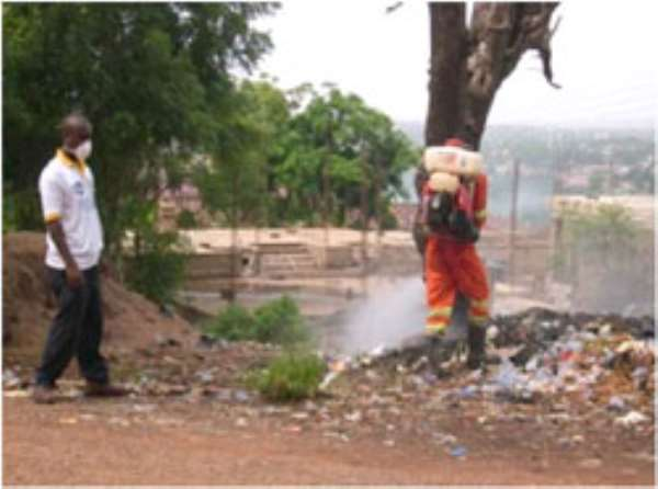 A staff of ZoomLion during the exercise