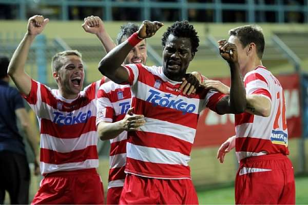 Ghanaian midfielder Aziz Tetteh grabs an assist in Platanias 2-0 win against Panthrakikos in Greek top flight.