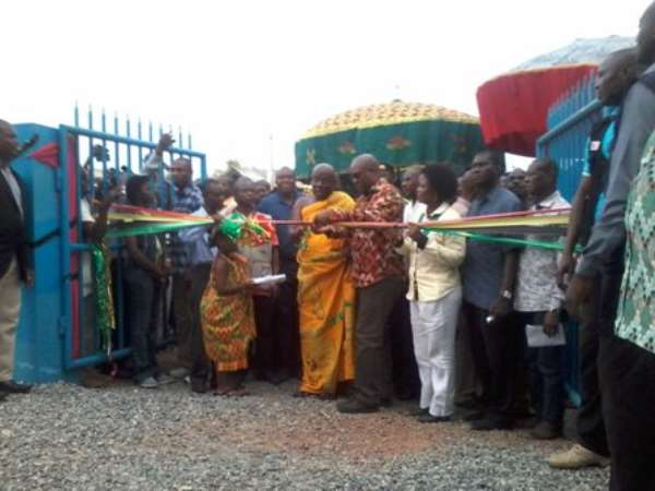 Mahama commissions water project for Kyebi