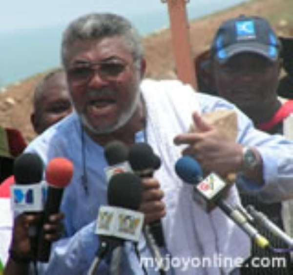 Former president Rawlings has been breathing on the neck of president Mills