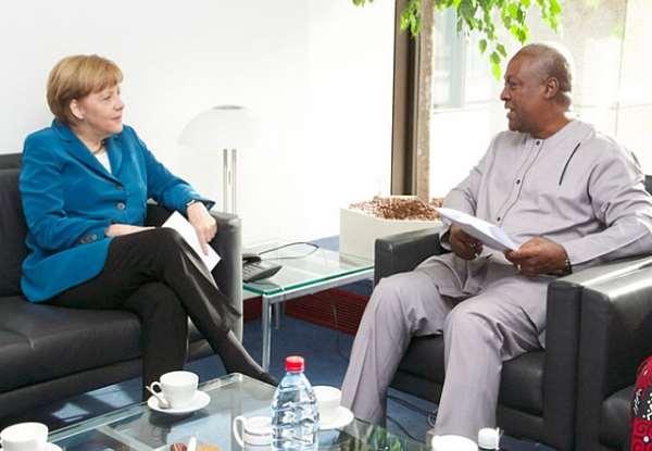 Prez Mahama & Angela Merkel