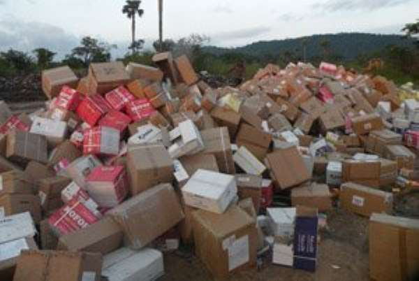 The seized pharmaceutical products