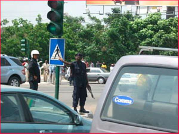 """Are the 'MTTU' of the Ghana police service toll booth attendants""?"
