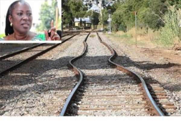 For how long will our railways continue to be in this state? INSET: Dzifa Attivor, Minister for Transport