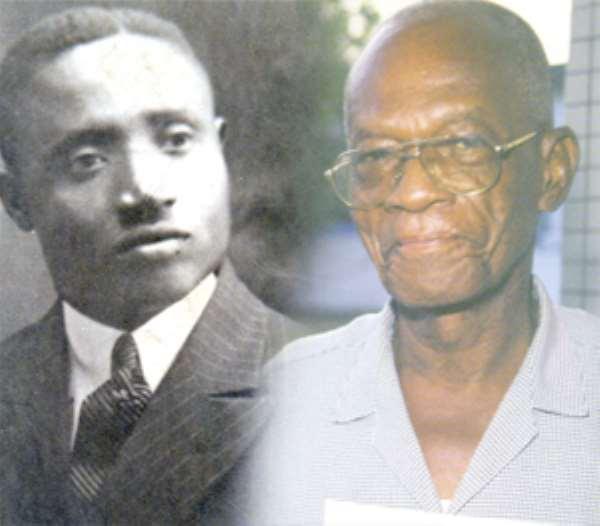 The late I.M. Peregrino Brimah aka Imoru Lincoln and Prof Cyril Fiscian