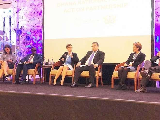 Undp Rrai Silke Hollander Speaking On The Panel At Gnpap Launch