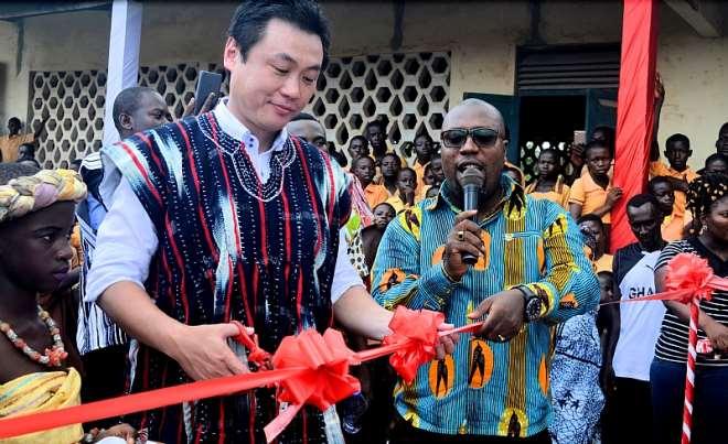 Toyota Ghana Company Ltd Managing Director Mr. Takuya Kajiura, and the MCE Hon. Mozart Owuh