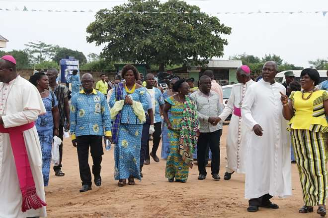 Dignitaries at the decade celebration of St. Catherine Senior High School at Agbakope in the Keta Akatsi diocese October 19, 2019. Photo by Damian Avevor