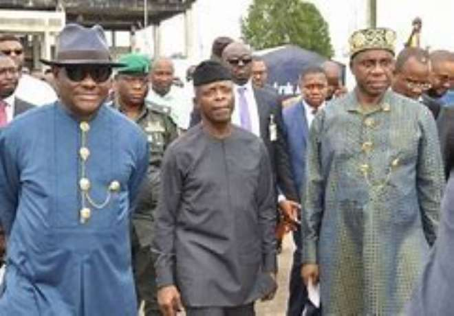 Amaechi And Wike With Vp Osinbanjo In The Middle