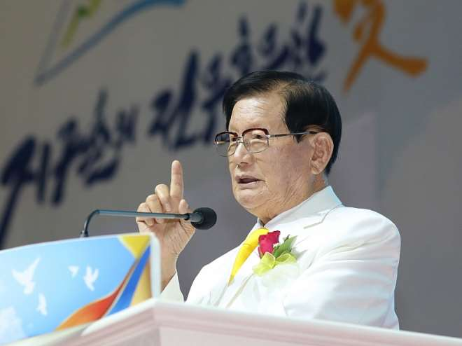 Mr. Man Hee Lee, Chairman Of Shincheonji Church Of Jesus, Is Preaching At The 100,000 Graduation Ceremony