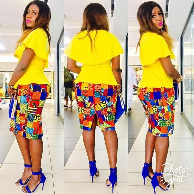 Yellow Cape dress