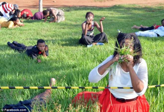 3. South African Pastor Orders His Congregants To Eat Grass To Get Closer To God