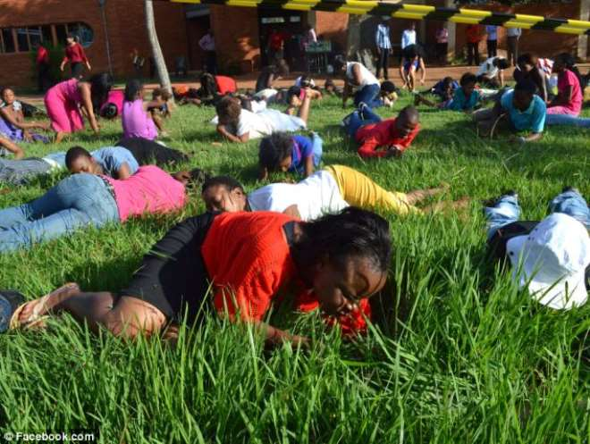 5. South African Pastor Lesego Daniel Orders His Church Members To Eat Grass
