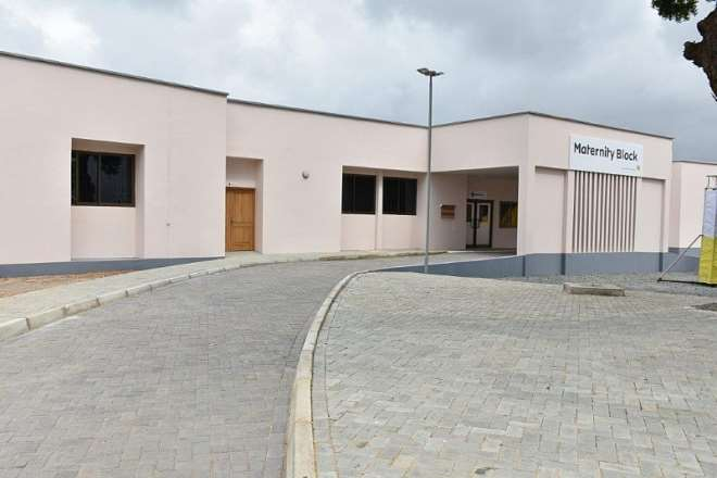 1129201821251 qulxoba442 outside view of newly commissioned maternity block for tema general hosp.