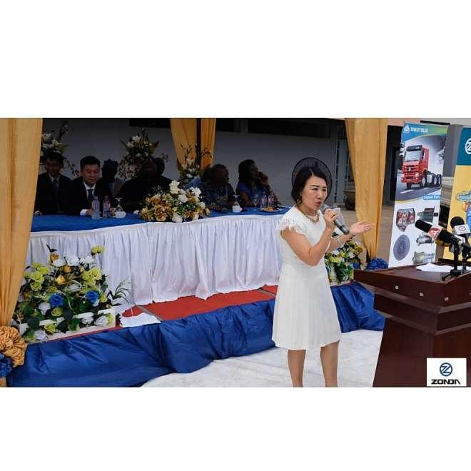 Yang Yang delivering her speech