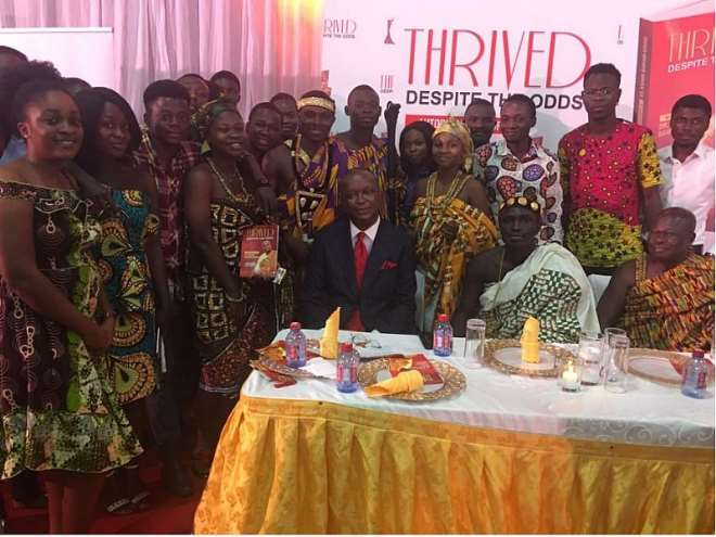 Dr. Kwame Bawuah-edusei With Some Traditional Chiefs And Group At The Book Launching