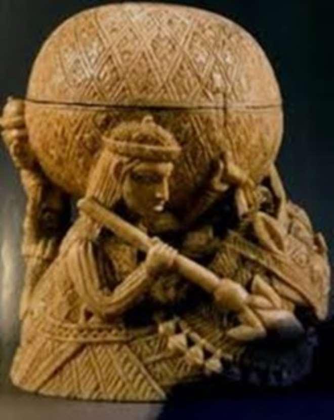 Saltcellar, Benin, Nigeria, now in Ethnologisches Museum/Humboldt Forum, Berlin, Germany.