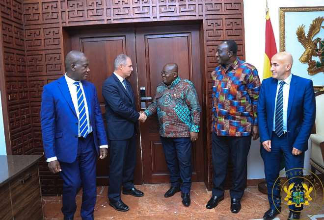 1282019112615 m6htl8w331 president akufoaddo exchanging pleasantries with vice president and chairman of the africamiddleeastindia ami region at renault fabrice cambolive