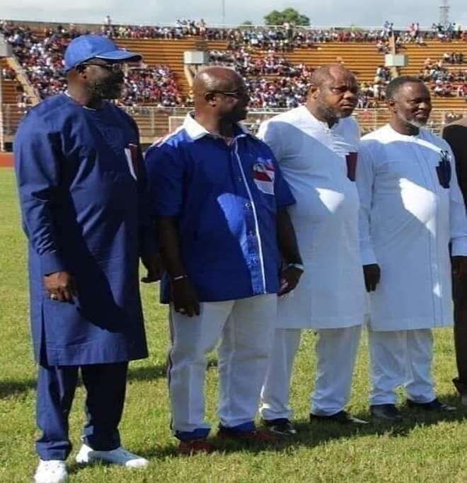 H.E. President George Manneh Weah and his team of Pro-Poor Agenda's 'architects.