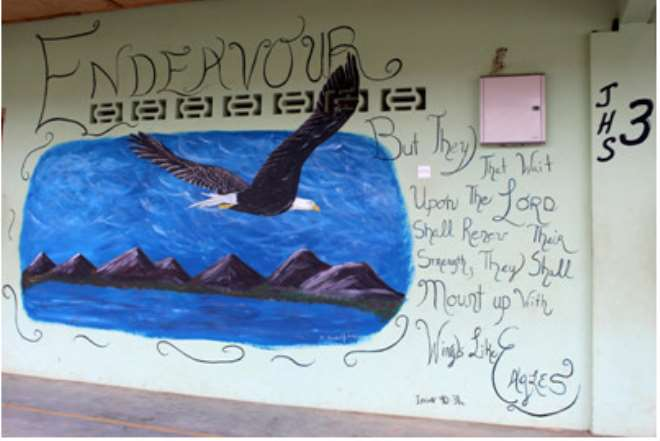 A Mural On The Wall Of The Faith Roots International Academy: Photo Taken By Lindsay Boyle