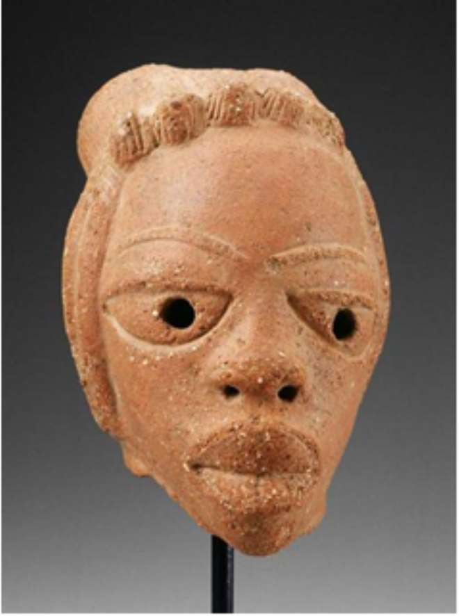 Returned Artefact—Terra-Cotta Head From Nigeria Dating To 500 B.C. To 200 AD