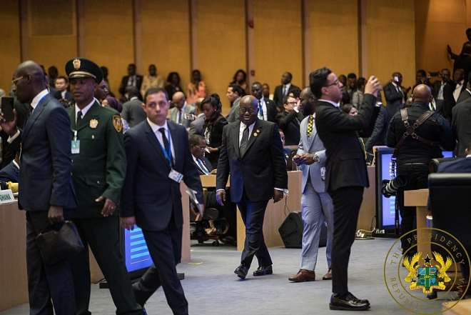 2102020122600-qvmxpcb543-president-akufo-addo-arrives-at-the-au-commission-headquarters