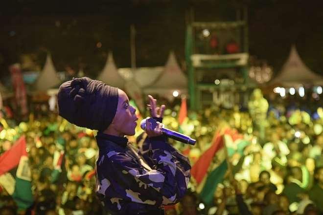 Jahmby Koikai At Buju Banton Concert - Image Credits - Nrg Radio