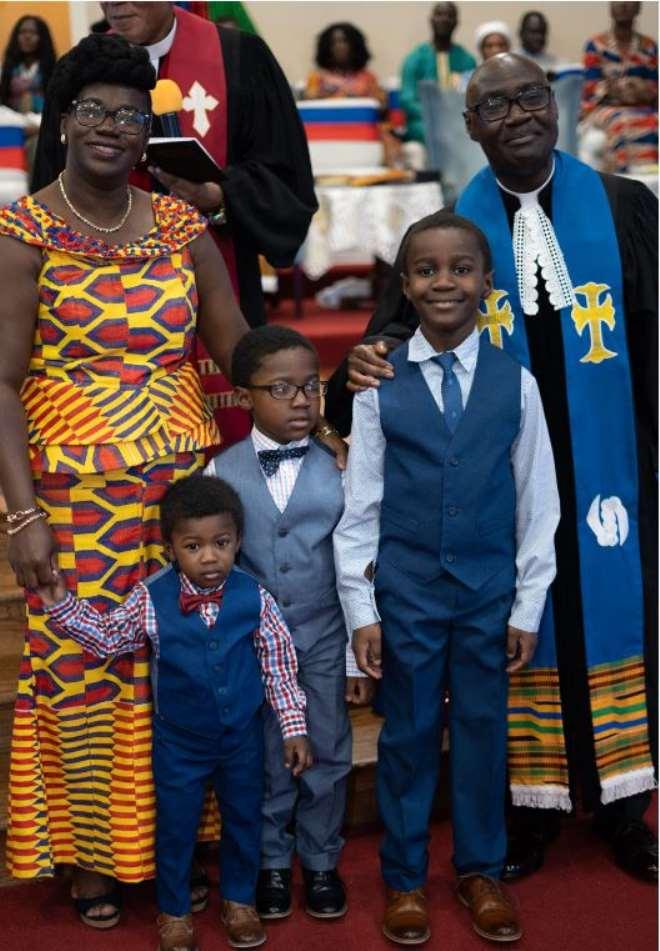 Rev. & Mrs Sam Okyere-mireku, The Washington Dc District Minister, Wife And Children