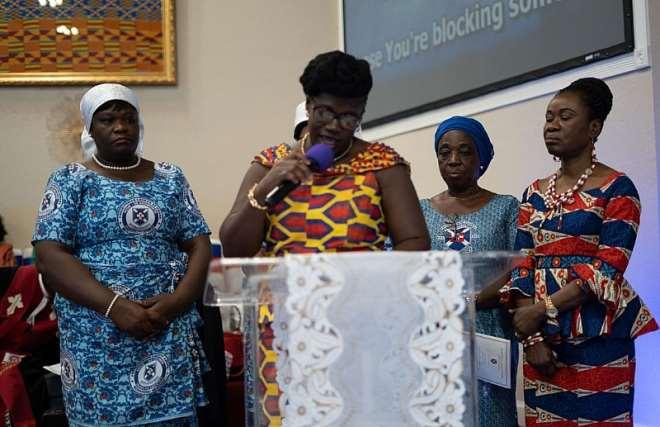 "Mrs. Justina Okyere-mireku And Other Ministersã¢â'¬â""¢ Spous E In The Presbytery Present"