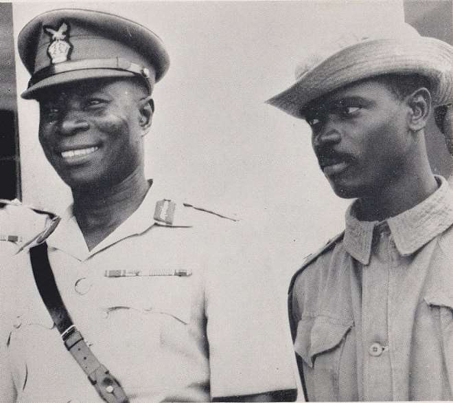 The Leader Of The 1966 Coup, Col E.k. Kotoka (left) And Maj. A.a. Afrifa