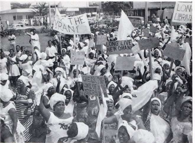Large Crowds Gathered To Celebrate The Overthrow Of Nkrumah In 1966