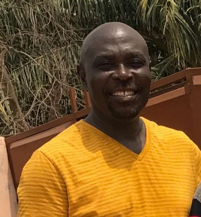 Mr. Simon Ampadu, President of the Kokrobite Residents' Association