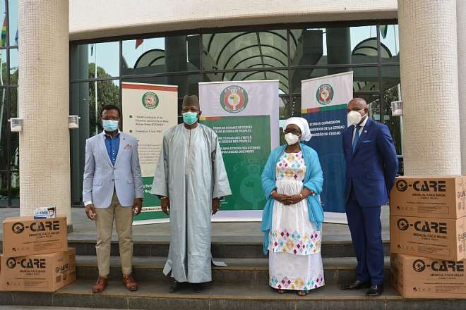 Mr. Cyprain , Mr. Mamadou Traore Mrs. Halima Ahmed And Prof. Stanley Okolo