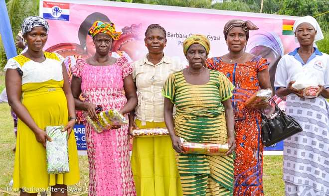 Widows from Akotom in a group picture