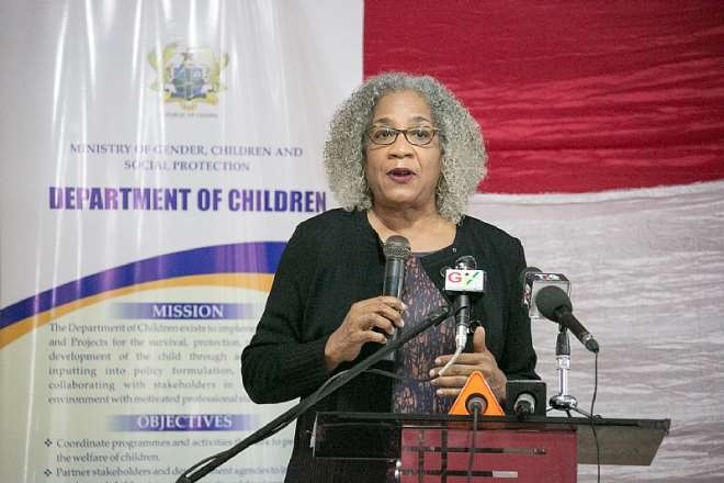 USAID/Ghana Mission Director, Sharon L. Cromer, delivering remarks at the launch of the Child Policy Documents for the Ministry of Gender, Children and Social Protection.
