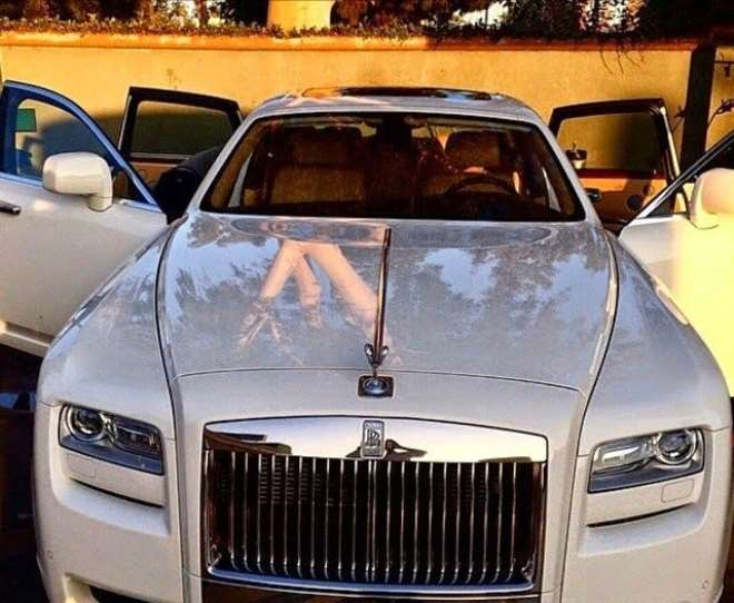 New Rolls Royce of one of the Directors of TCL Ghana Ltd
