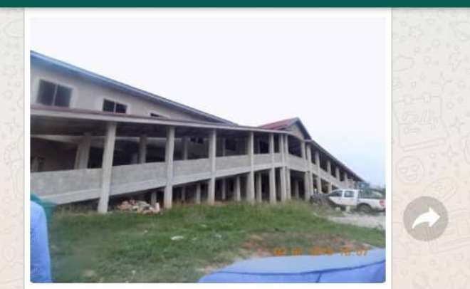 The Construction Of The Community Hospital At Akropong Sponsored By Hon Benito Owusu Bio