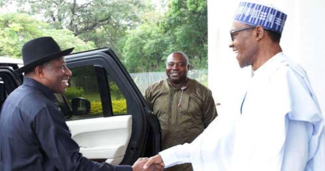 Former President Goodluck Jonathan visits President Muhammadu Buhari, Monday, November, 2, 2015