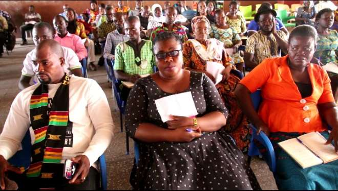 Participants at the education forum in Bolga