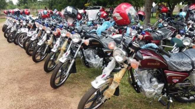 57 Assembly Members Receive Motorbikes