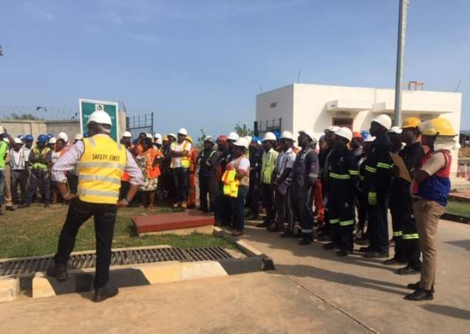 Staff And Visitors Assembled During The Headcount For The Exercise