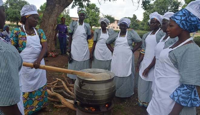Caterers undergoing practical training at Tumu