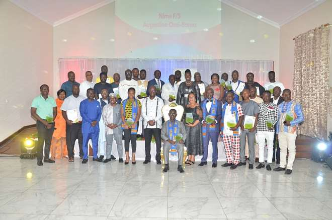 The Management of Vivo Energy Ghana in a Picture with all Award Winners