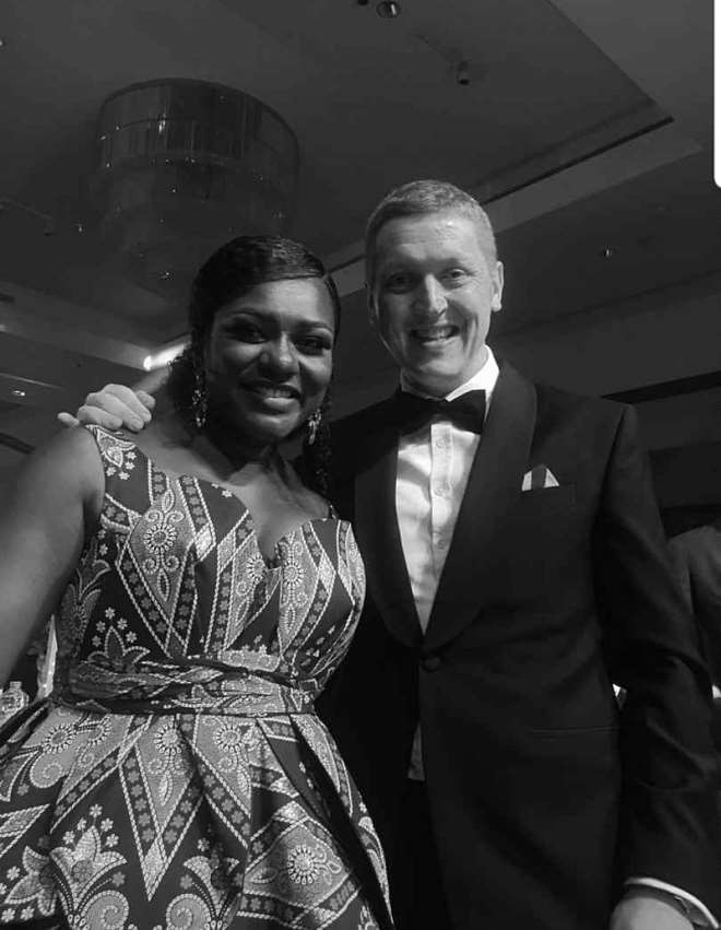 Dentaa Amoateng Mbe With Ian Walker, British High Commissioner To Ghana
