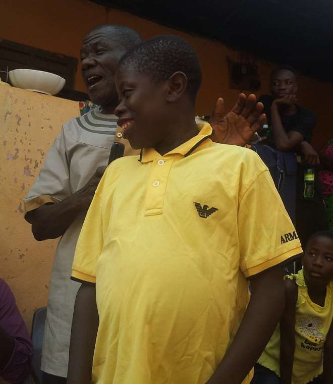 Thomas Narteh Partey (In Yellow Polo Shirt) In A Shot With His Father, Mr. Winfred S. Partey