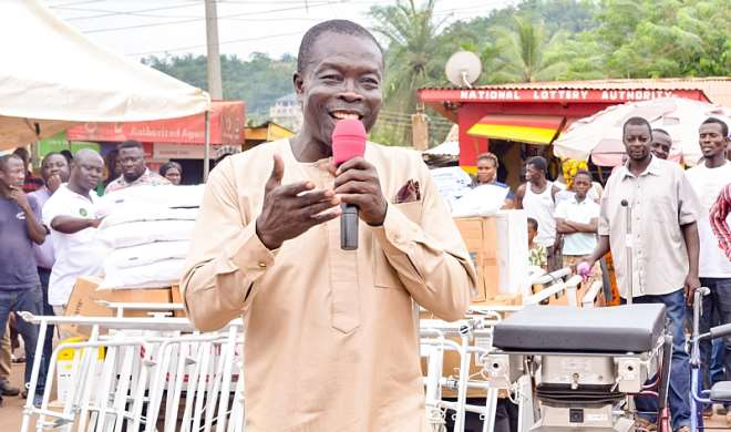 Constituency NPP Chairman delivering a speech