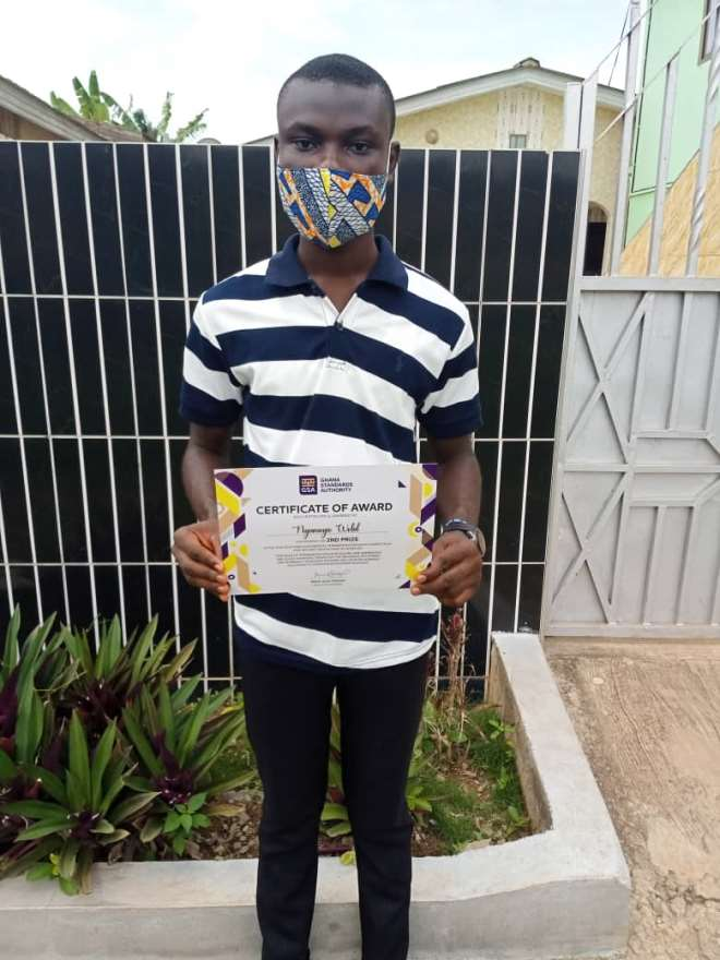 1st Runner Up, Nyameyie Wobil, First-Year Student Studying BSc. Agricultural Science At KNUST