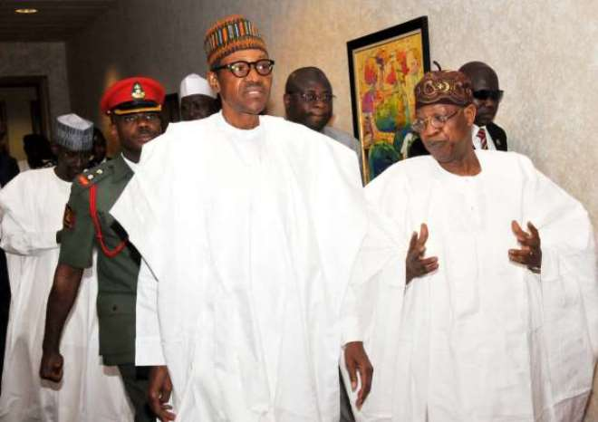 President Muhammadu Buhari and Lai-Mohammed