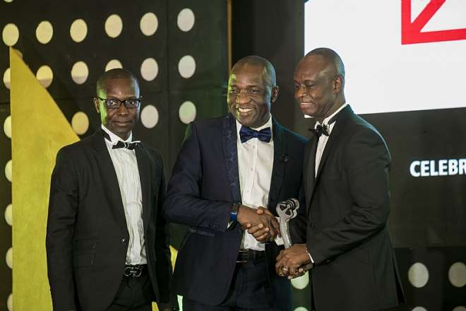 (from left to right) – Louis-Pius Dushie, Head of Finance & Strategy, Inlaks; Olufemi Muraino, Executive Director, Inlaks and Joe Anokye, CEO, National Communications Authority