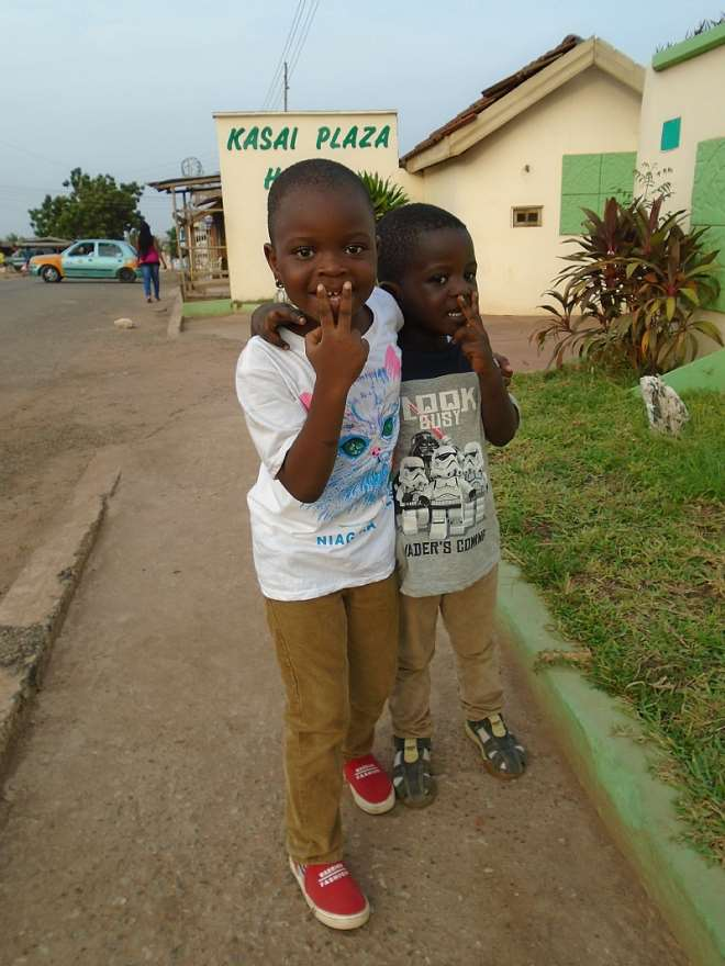 Batia, left and brother, Aaron Nii Dromo Quaye.